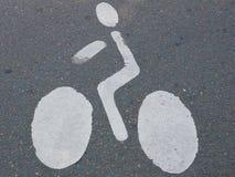 Cyklista ikony znak Obraz Royalty Free