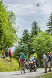 Cyklista Jakob Fuglsang - tour de france 2017 Zdjęcia Stock