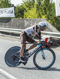 Cyklista Jean Christophe Peraud - tour de france 2014 Fotografia Stock