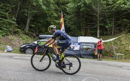 Cyklista Michael Albasini - tour de france 2017 zdjęcia royalty free