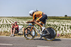Cyklista Mikel Astarloza Chaurreau Zdjęcia Royalty Free