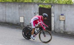 Cyklista Nacer Bouhanni, Criterium Du Dauphine 2017 - Obraz Stock