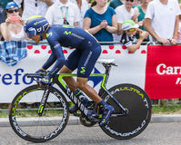 Cyklista Nairo Quintana - tour de france 2015 Zdjęcia Royalty Free