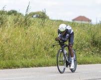 Cyklista Natnael Berhane, Criterium Du Dauphine 2017 - zdjęcia stock