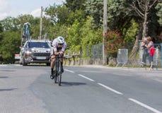 Cyklista Pierre Latour, Criterium Du Dauphine 2017 - Fotografia Royalty Free