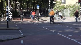 Cyklista przejażdżka na ulicie zbiory wideo