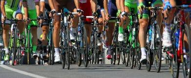 Cyklista przejażdżka podczas zawody międzynarodowi rasy Fotografia Royalty Free