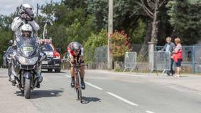 Cyklista Richie Porte, Criterium Du Dauphine 2017 - Zdjęcia Royalty Free