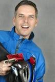 cyklista szczęśliwy Zdjęcia Royalty Free