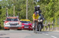Cyklista Thomas De Gendt, Criterium Du Dauphine 2017 - Zdjęcie Stock