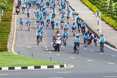 Cyklista w przygotowanym obraz stock