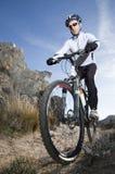 cyklistbergtrail Arkivfoton