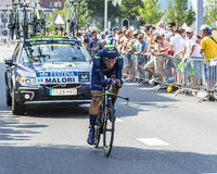 Cyklisten Adriano Malori - Tour de France 2015 Royaltyfri Bild