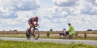 Cyklisten Amael Moinard Royaltyfria Foton