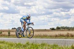 Cyklisten Andrij Grivko Arkivfoton