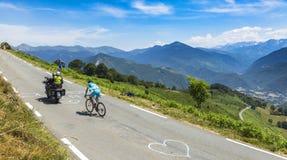 Cyklisten Andriy Grivko - Tour de France 2015 Arkivfoto