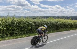 Cyklisten Antwan Tolhoek - Kriterium du Dauphine 2017 Royaltyfri Bild
