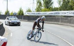Cyklisten Ben Gastauer - Tour de France 2015 Royaltyfri Bild