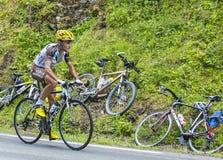 Cyklisten Blel Kadri Arkivfoton