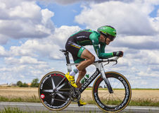 Cyklisten Christophe Kern Arkivbild