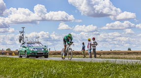 Cyklisten Christophe Kern Royaltyfri Bild