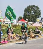 Cyklisten Cyril Gautier Arkivfoton