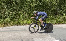 Cyklisten Damien Howson - Kriterium du Dauphine 2017 Arkivbilder