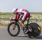 Cyklisten Daniel Moreno Fernandez Royaltyfria Foton