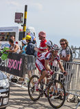 Cyklisten Daniel Moreno Fernandez Royaltyfri Fotografi