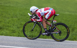 Cyklisten Daniel Moreno Fernandez Arkivfoto