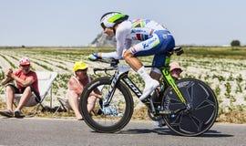 Cyklisten Daryl Impey Arkivbild