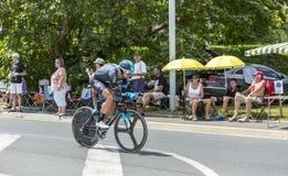 Cyklisten David Lopez Garcia Fotografering för Bildbyråer