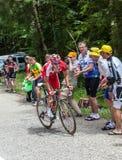 Cyklisten Edet Nicolas Arkivfoton