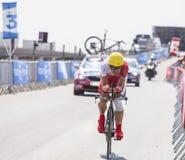 Cyklisten Egoitz Garcia Arkivfoto