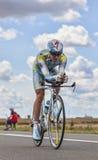 Cyklisten Fofonov Dmitriy Arkivfoto