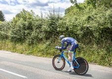 Cyklisten Frederik Backaert - Kriterium du Dauphine 2017 Royaltyfria Bilder