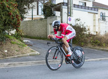 Cyklisten Geoffrey Soupe - Paris-Nice 2016 Arkivfoto