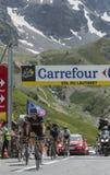 Cyklisten Geraint Thomason Col du Lautaret - Tour de France 20 Arkivbilder
