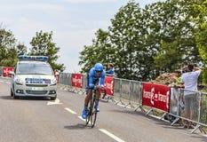 Cyklisten Jack Bauer Fotografering för Bildbyråer