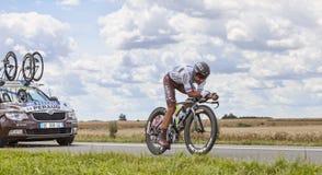 Cyklisten Jean-Christophe Peraud Arkivbild
