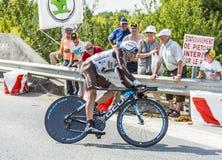 Cyklisten Jean-Christophe Peraud Arkivfoton