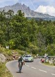 Cyklisten Jean-Marc Marino Arkivbilder