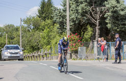 Cyklisten Jens Keukeleire - Kriterium du Dauphine 2017 Royaltyfria Foton