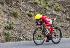 Cyklisten Jerome Coppel Arkivfoto