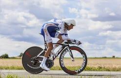 Cyklisten Jerome Coppel Royaltyfri Fotografi