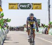 Cyklisten Juan Antonio Flecha Giannoni Arkivfoton