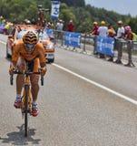 Cyklisten Juan Jose Lobato del Valle Royaltyfri Bild