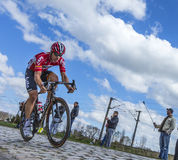 Cyklisten Jurgen Roelandts - Paris Roubaix 2016 Arkivbilder