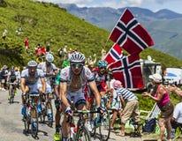 Cyklisten Koen de Kort Arkivbild
