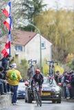Cyklisten Koen de Kort - Paris-Nice 2016 Fotografering för Bildbyråer